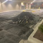 parking lot surface stripped