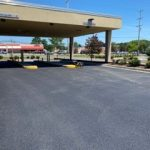 parking lot paved and marked