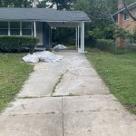 private driveway before concrete removed