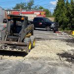 removal of parking lot concrete