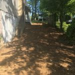private driveway stripped and ready for paving