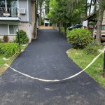 newly paved private driveway