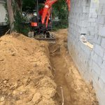 excavation along new building footings