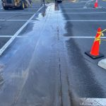 cutting parking lot for new pipping