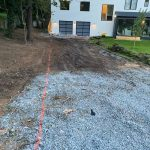private driveway prepped for stone