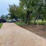 finished private driveway