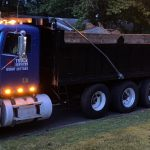 truck services large dump truck lights on